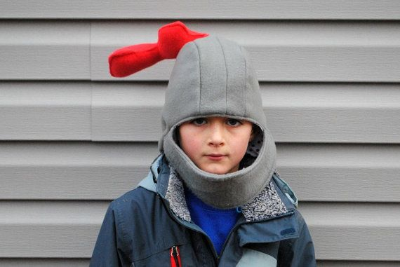 This Fleece Knight Helmet by BeatnikKids on Etsy is perfect for your little knight and can serve double duty for dress up play and a winter hat.
