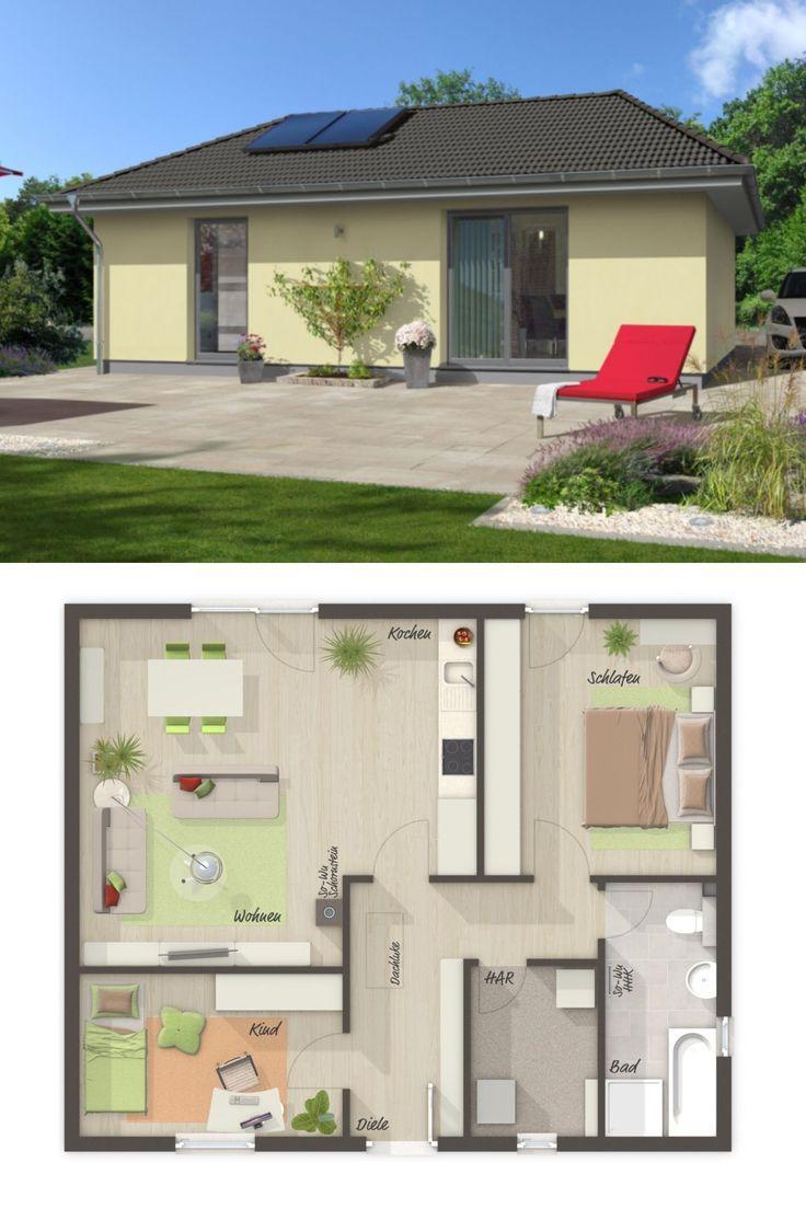 Bungalow haus mit walmdach architektur grundriss for Bungalow haus bauen