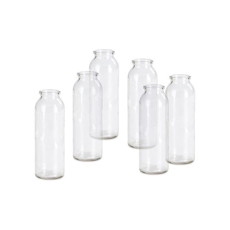 Vase 6 Stück Glas klar ca H:15 cm