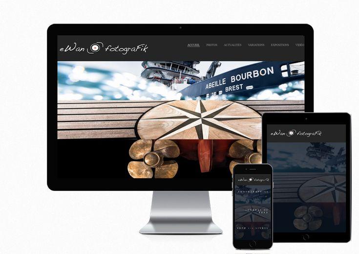 Réalisation du nouveau site Ewan Fortografik - www.ewan-photo.fr #Brest . Venez découvrir le magnifique travail d'Ewan.