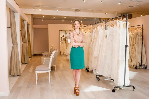 Lovely Bridal Store in LA.  They don't just stock your average lines, they bring in many independent designers.  Love it!