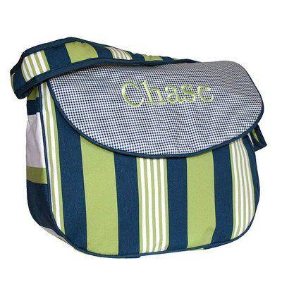 Lacrosse Personalized Messenger Diaper Bag