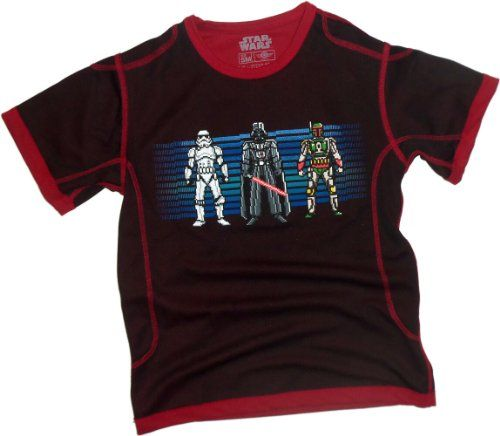 8-Bit Bad Guys -- Star Wars Polyester Sports Fabric Youth T-Shirt Youth Large @ niftywarehouse.com #NiftyWarehouse #Geek #Gifts #Collectibles #Entertainment #Merch