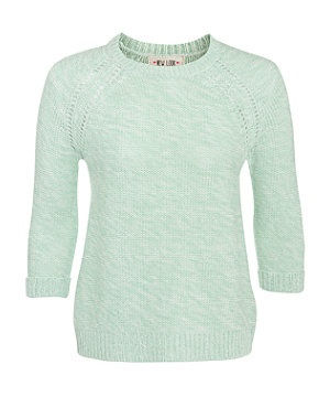 Green Pattern (Green) Green Split Back Knitted Jumper  | 266480139 | New Look