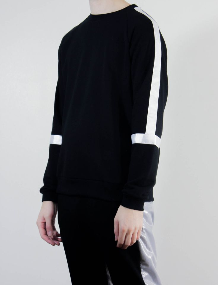 COTTWEILER BLACK TAPED SWEATER | PRIMITIVE LONDON