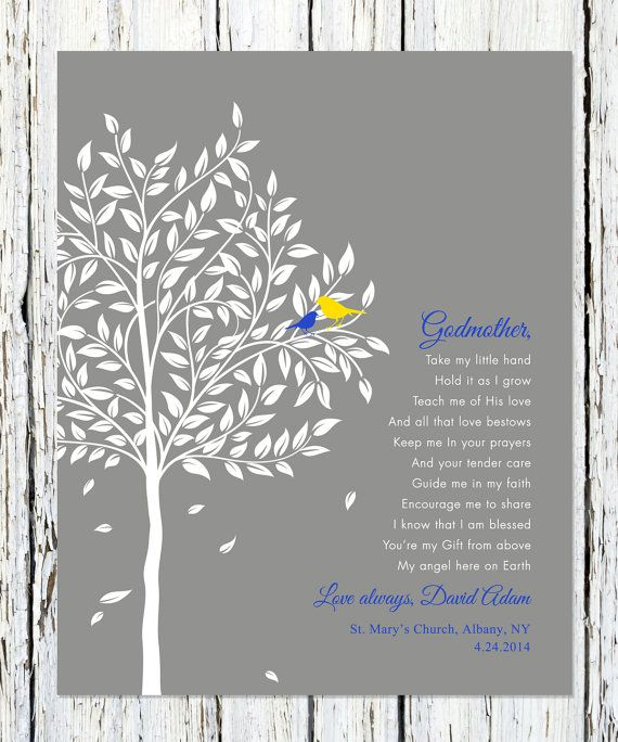 Godparents gift Personalized Gift for Godmother by WordsWorkPrints, $20.00 Awwww I love this