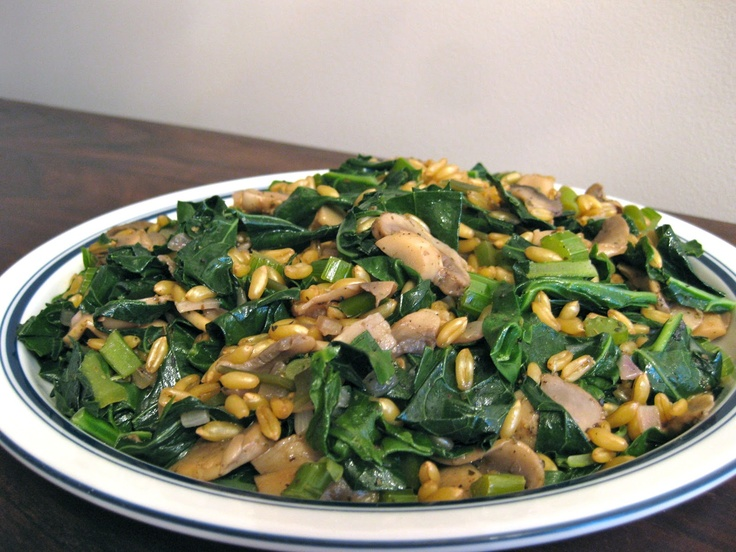 The Incidental Vegan: Kamut Berry Pilaf with Mushrooms and Wild Kale # ...
