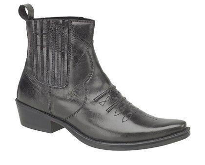 Herren Gringos Gusset Western Cowboy Knöchel-Stiefel in schwarz Antikleder in Größe 40.5 - http://on-line-kaufen.de/gringos/herren-gringos-gusset-western-cowboy-knoechel-in