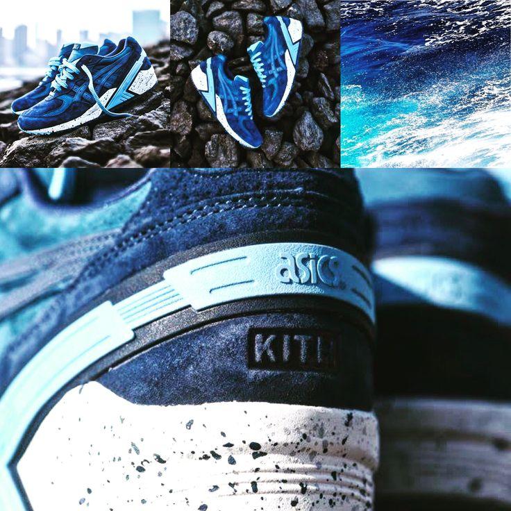 """Ronnie Fieg & Asics Gel Sight """"Atlantic"""" & KITH - released on February 27, 2015 #ronniefieg #asics #kithnyc #atlantic #sneakersnews #highsnobiety #ocean #waves #sneakers"""