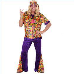 Disfraz Chico Hippie Talla XL