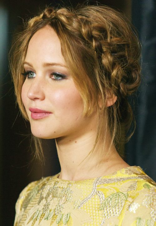 Best Hair Images On Pinterest Braided Updo Cute - Diy hairstyle knotted milkmaid braid