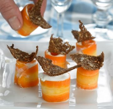 Gulerodsruller med blue cheese creme | Familie Journal