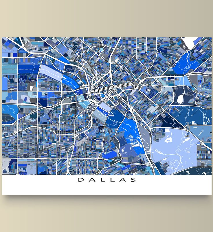 Kentucky County Map Editable%0A Hang a bit of fun and beautiful Dallas  Texas on your wall with this   Dallas map print  This city map has an abstract art design made from of  lots of little