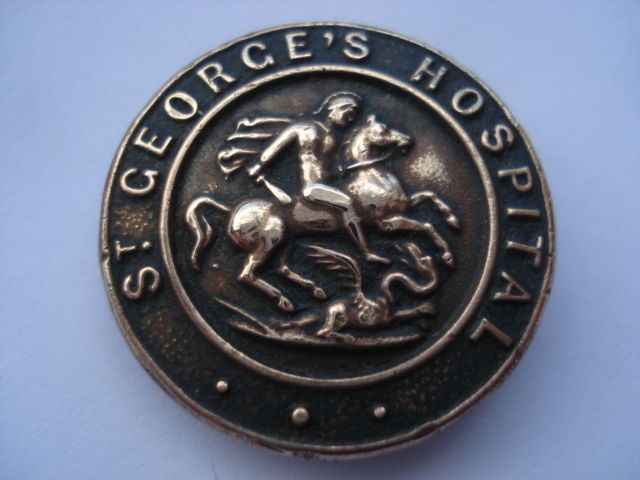 St Georges Hospital Badge - I still have mine. A reminder of the marvellous Dame Muriel Powell, pioneering Matron of St Georges Hospital