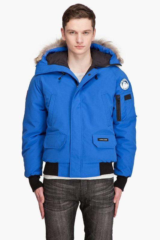 canada goose homme bleu electrique