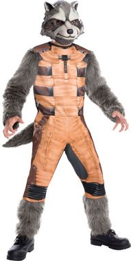 Your child can look like their favorite character from the new Guardians of the Galaxy movie from Marvel! Jumpsuit and mask. Child small size fits sizes 4-6.