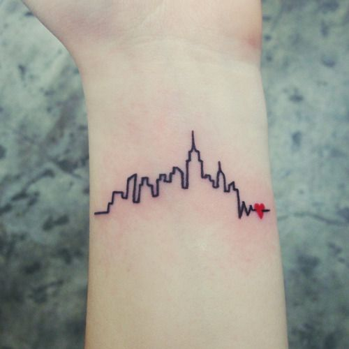 new york skyline foot tattoo - Google Search