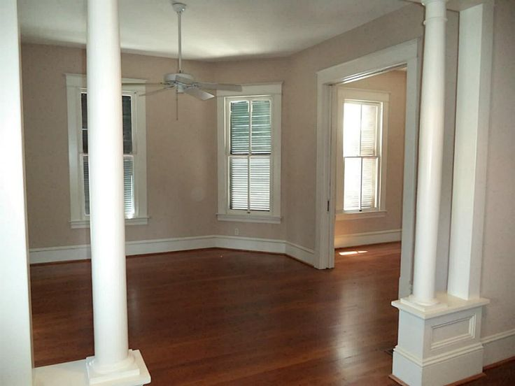 Upon Entering The Living Room Entrance Flanked By Columns Pocket Doors In Upper Right Lead To Dining
