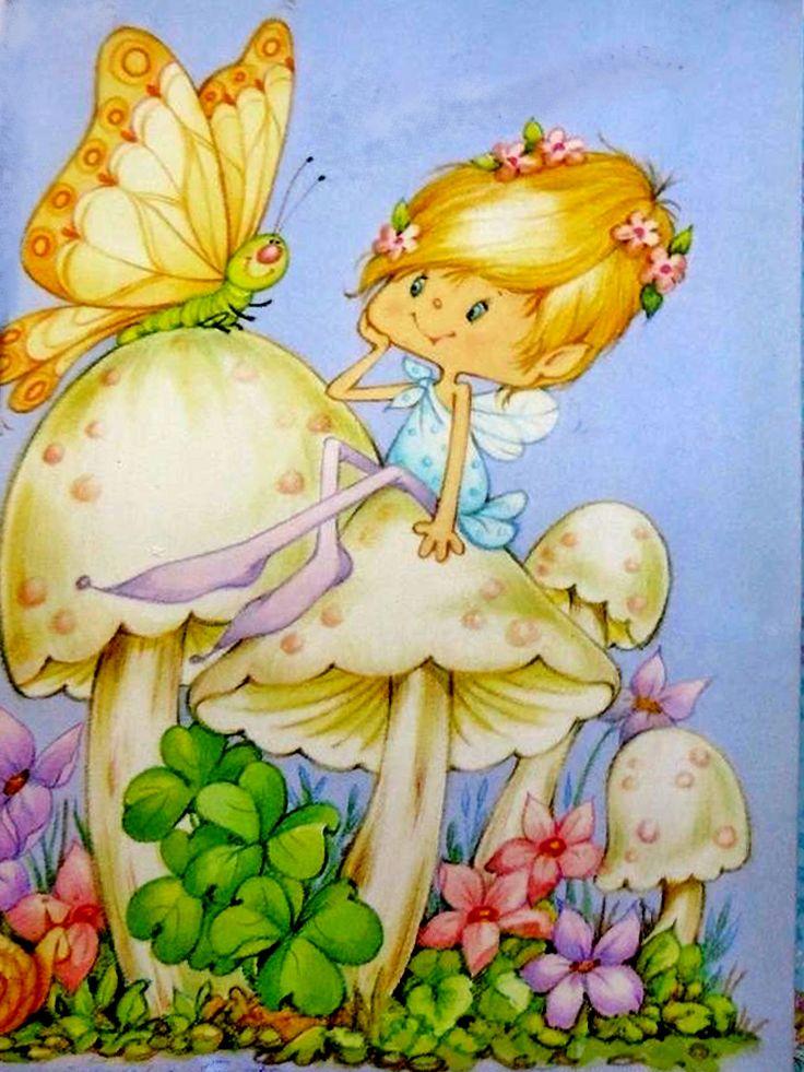 Herself the elf on a mushroom
