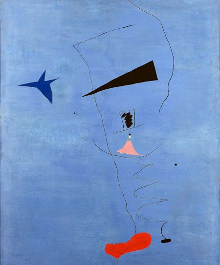 joan miro, blue star [NOTE: My favorite surrealist.]