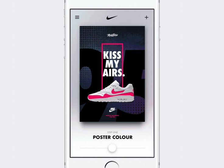 Nike Poster Creator #ui #ux #animation #mobile #dribbble #gif #ios #iphone #interface #design