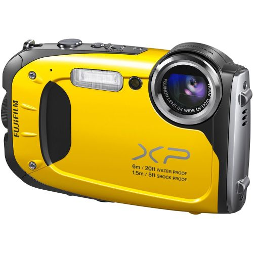Fujifilm FinePix XP70 - 16MP - 5X Optical Zoom - Waterproof Digital Camera - Yellow | Cameras and Camcorders | Visions Electronics