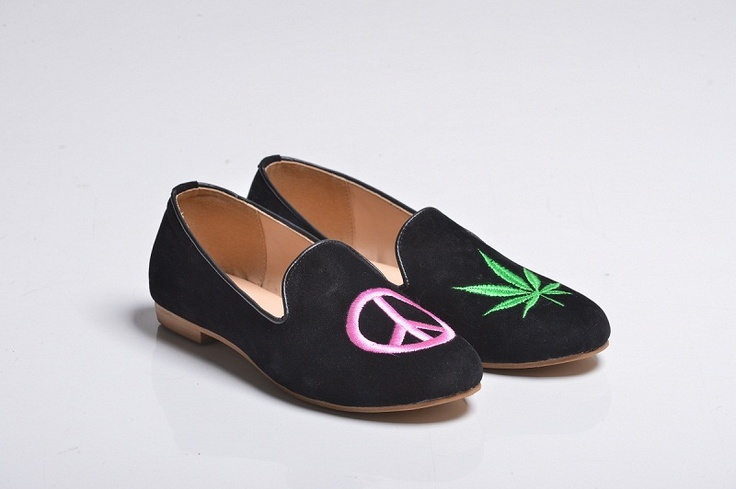 Marijuana & Peace Velvet Slippers