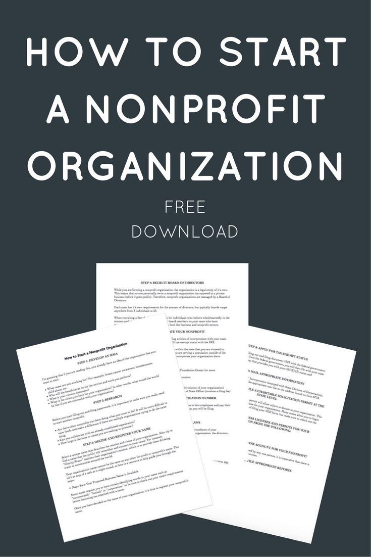Best Starting A Nonprofit Images On   Business Ideas