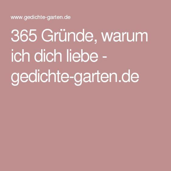 365 Gründe, warum ich dich liebe - gedichte-garten.de