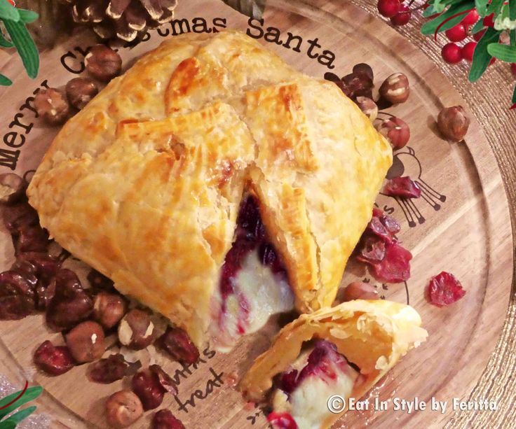 Baked Cranberry Walnut and \Cheese in Puff Pastry- cheese in pastry, do I need to say anything more?