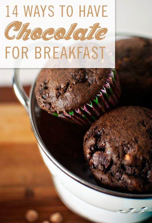Chocolate for breakfast? WE'RE IN!