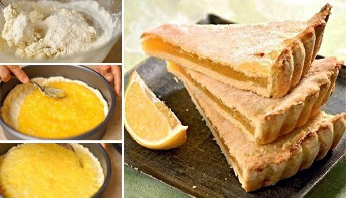 Delikátní citrónový dort