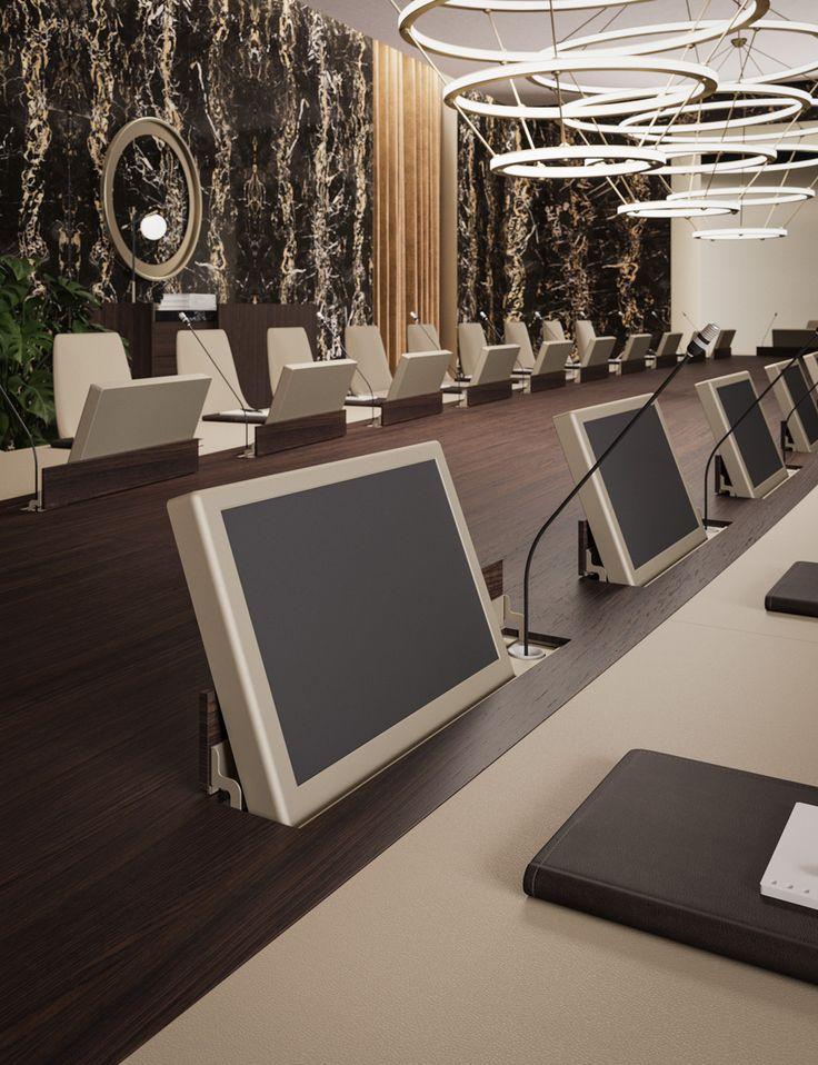 Bespoke conference table by Prof Office | AD RMDESIGNSTUDIO www.rmdesignstudio.it