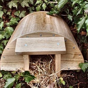 Wildlife World Hedgehog House      Attractive and of a unique design, the original Hedgehog House provides a safe habitat for hedgehogs in the garden. Suitable for hibernation, breeding and Summer shelter.