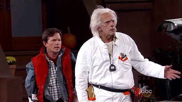 Overraskelse i live tv-show: Marty og 'Doc' ankom til fremtiden | Kultur | DR