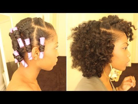 Rod Set On Short Natural Hair Using Mielle Organics