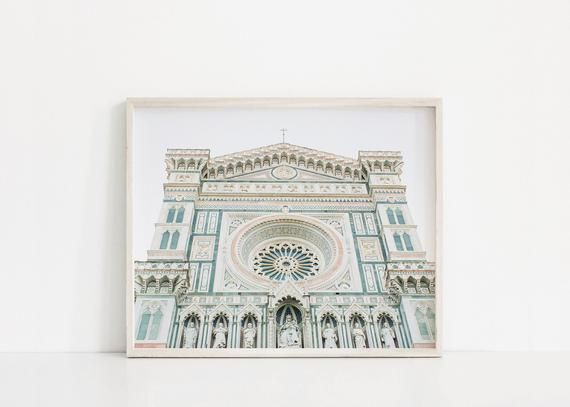Florence Wall Art Duomo Cathedral Photography Minimalist Art Print Travel Large Wall Art Europe Florence Wall Art Minimalist Art Print Italy Wall Art