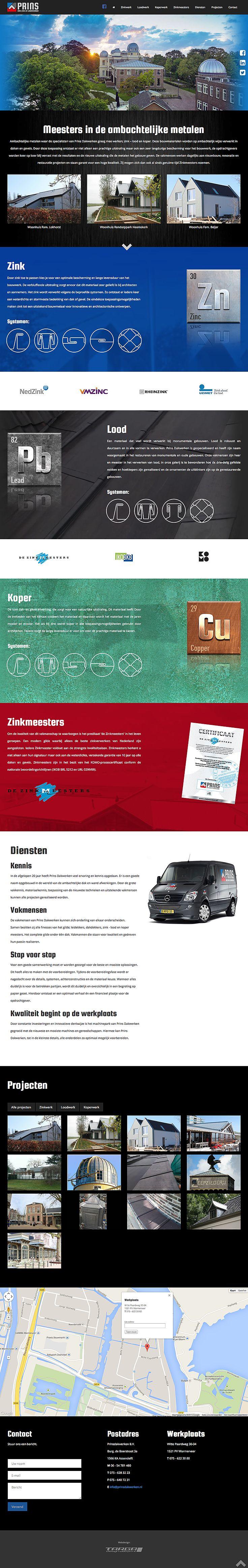 Webdesign voor Prins Dakwerken!