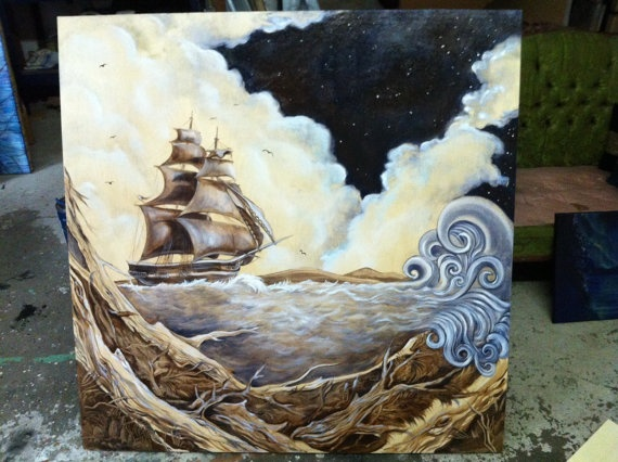 Sail Away by JoleneMackieArt on Etsy, $1150.00