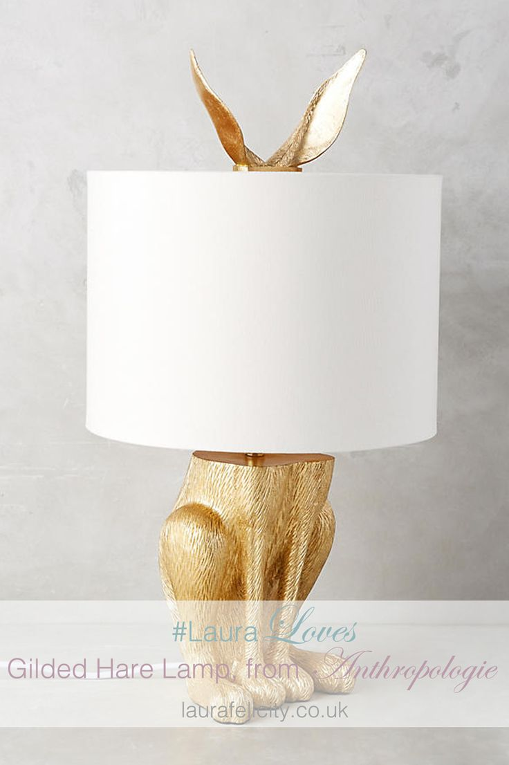 The Laura Loves over on the interiors blog this month is the Gilded Hare Lamp from Anthropologie. It's a perfect lighting accessory to compliment the Nest Egg wallpaper. Select this light to decorate your child's bedroom, or baby nursery. Style in your own bedroom, spare/guest bedroom, and living room for a fun, quirky decor. make Nest Egg the perfect feature wall design. make Nest Egg the perfect feature wall design. Making Nest Egg a feature wall decorating focus.