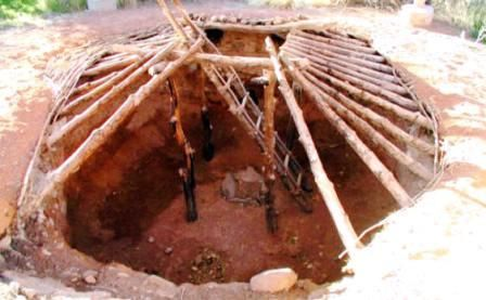 how to build a wood underground shelter