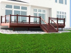 Ringhiera da esterno / in legno / a pannello in vetro / per mezzanino - PURE VIEW - FORTRESS RAILING PRODUCTS