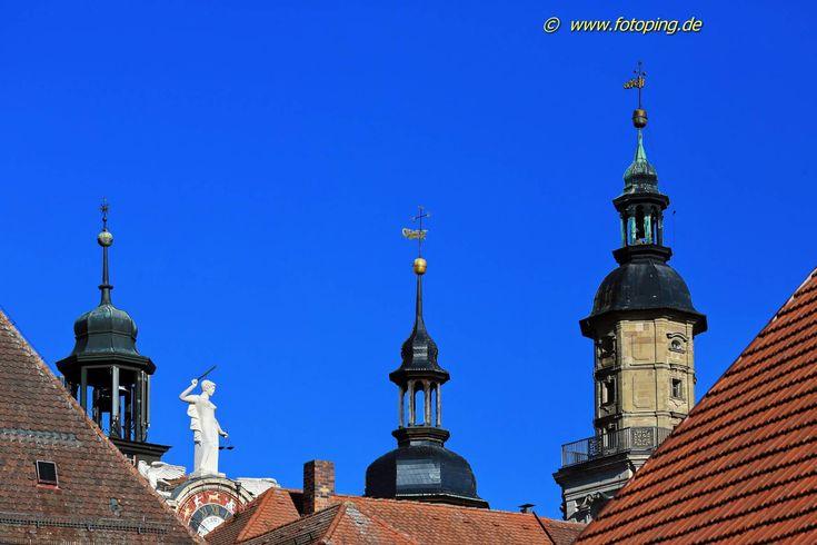 Rathaus und Kirche Bad Windsheim Stadt Sehenswürdigkeit ...