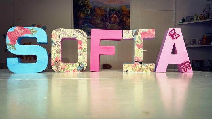 Nursery letters girl