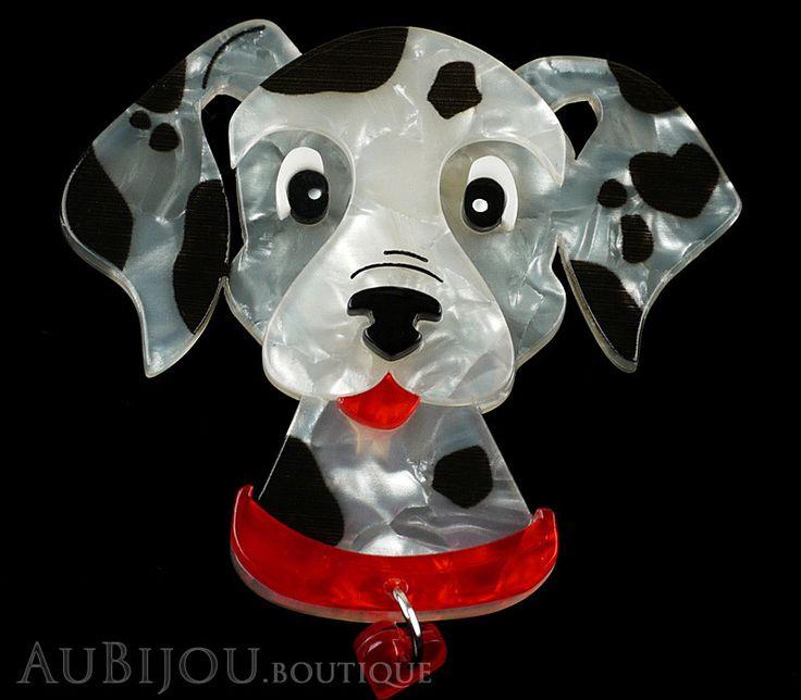 Erstwilder Dalmatian Dog Brooch Pin