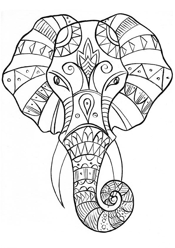 elephants coloring page 93 coloring pages for adults elephant 1956