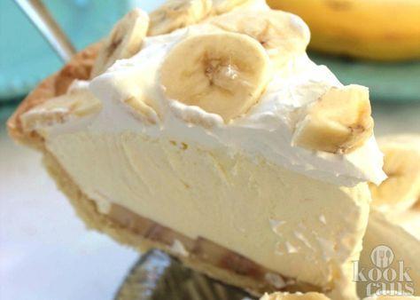 Bananentaart met kloppundding/klopklop room