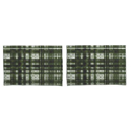 Lumberjack Plaid Drk Olive Design Pillowcase - rustic gifts ideas customize personalize