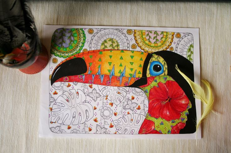 I love toucans, so you too can! This is one of my favourite mandala designs with an Amazon twist