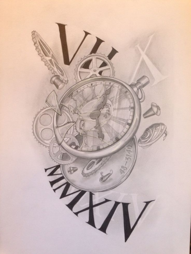 broken clock tattoos designs wwwimgkidcom the image